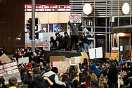 Protesters shout slogans and hold up signs at Martin Place during a 'Black Lives Matter' rally on 02 June, 2020 in Sydney, Australia. This event was organised to rally against aboriginal deaths in custody in Australia as well as in unity with protests across the United States following the killing of an unarmed black man George Floyd at the hands of a police officer in Minneapolis, Minnesota. (Photo by Steven Markham/ Speed Media)