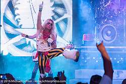 """Harley-Davidson Bike Week kick-off at Dirty Harry's with the band """"Hairball"""" entertaining the crowd during the Daytona Bike Week 75th Anniversary event. FL, USA. Monday March 7, 2016.  Photography ©2016 Michael Lichter."""