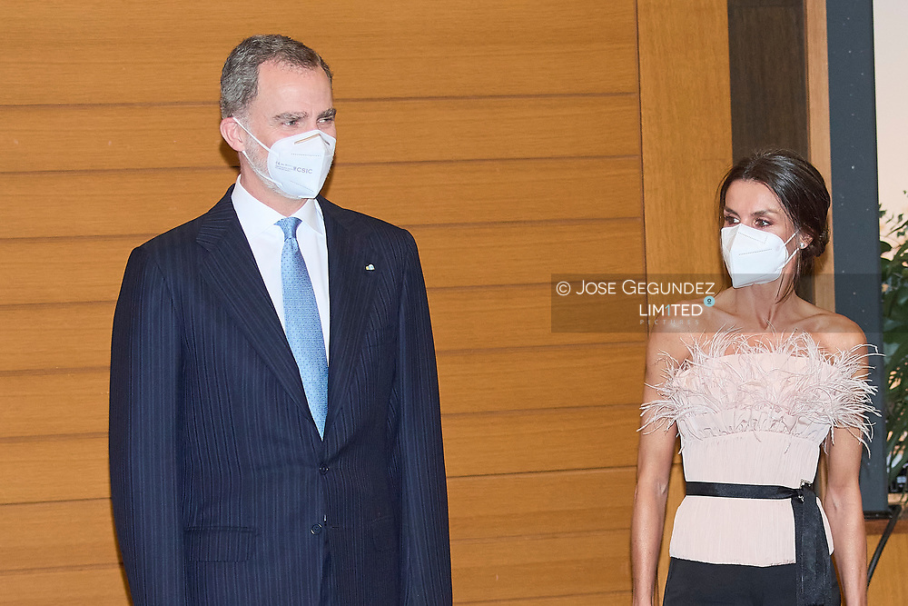 King Felipe VI of Spain, Queen Letizia of Spain attend  Official Dinner hosted by the Co-Princes of Andorra during 2 day State visit to Principality of Andorra at Andorra Park Hotel  on March 25, 2021 in Andorra la Vella, Principality of Andorra