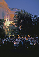 A dinner for the NATO heads of state in the Rose Garden of the White House on May 30,1978<br /> Photo by Dennis Brack
