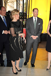 TRH the EARL & COUNTESS OF WESSEX and  at the opening of the Victoria & Albert Museum's latest exhibition 'Grace Kelly: Style Icon' opened by His Serene Highness Prince Albert of Monaco at the V&A on 15th April 2010.