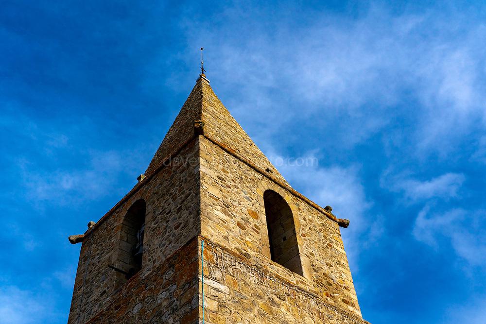 L'église Sainte-Eulalie de Bolquère, Bolquere, Pyrenees Orientales, France, dating to the 12th century.