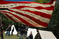 5th NH Volunteer Civil War encampment during Sanbornton's Old Home Day festivities on Saturday.  (Karen Bobotas/for the Concord Monitor)