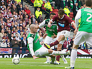 The William Hill Scottish FA Cup Final 2012 Hibernian Football Club v Heart Of Midlothian Football Club..19-05-12...Rudi Skacel shoots to score goal number 5 to make it 5-1 to Hearts        during the William Hill Scottish FA Cup Final 2012 between (SPL) Scottish Premier League clubs Hibernian FC and Heart Of Midlothian FC. It's the first all Edinburgh Final since 1986 which Hearts won 3-1. Hearts bid to win the trophy since their last victory in 2006, and Hibs aim to win the Scottish Cup for the first time since 1902....At The Scottish National Stadium, Hampden Park, Glasgow...Picture Mark Davison/ ProLens PhotoAgency/ PLPA.Saturday 19th May 2012.