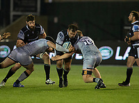 Rugby Union - 2020 / 2021 Gallagher Premiership - Newcastle Falcons vs Sale - Kingston Park<br /> <br /> George McGuigan of Newcastle Falcons is tackled by Bevan Rodd of Sale Sharks<br /> <br /> COLORSPORT/BRUCE WHITE