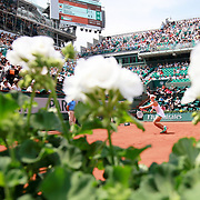 2017 French Open Tennis Tournament - Day One.  Angelique Kerber of Germany in action during her loss to Ekaterina Makarova of Russia on Court Philippe-Chatrier during the Women's Singles Round one match at the 2017 French Open Tennis Tournament at Roland Garros on May 27th, 2017 in Paris, France.  (Photo by Tim Clayton/Corbis via Getty Images)