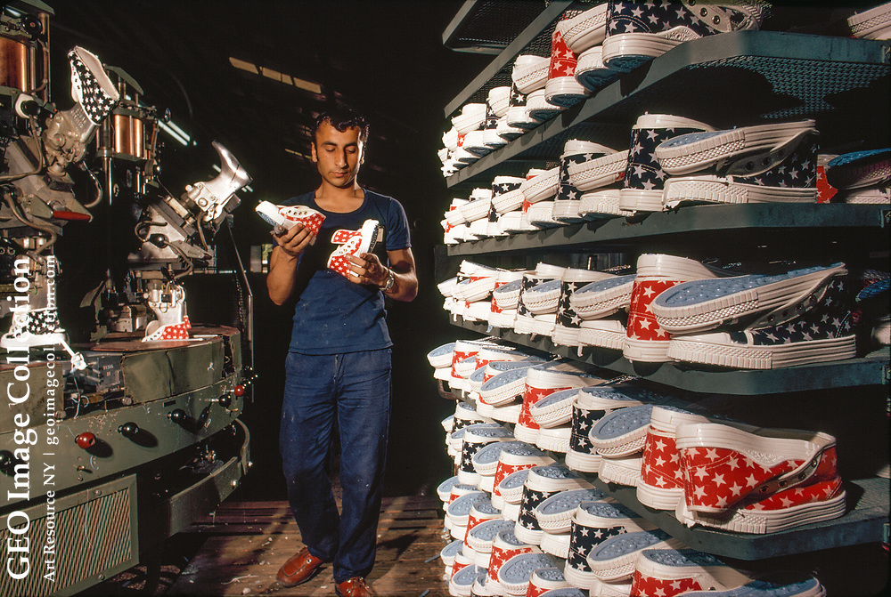Plastic from petroleum provides soles for the Melli Shoe Company.