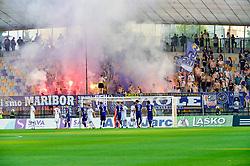 Fans of NK Maribor during football match between NK Maribor and NS Mura in 2nd Round of Prva liga Telekom Slovenije 2018/19, on July 29, 2018 in Ljudski vrt, Maribor, Slovenia. Photo by Mario Horvat / Sportida