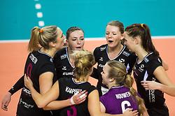 20-02-2016 NED: Coolen Alterno - Eurosped TVT, Almere<br /> Vreugde bij Eurosped na de 3-2 overwinning