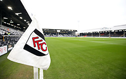 General view of the pitch before the Premier League match at Craven Cottage, London.
