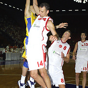 Turkish between Swede Special basketball match. Players Hakan KOSEOGLU(N) during their action Abdi Ipekci Sport Hall in ISTANBUL at TURKEY.<br /> Photo by AYKUT AKICI/TurkSporFoto