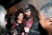 LULU GUINNESS; ROB RYAN, Lulu Guinness And Rob Ryan Fan Bag - Launch Party. Air Gallery. London. 10 November 2010.  -DO NOT ARCHIVE-© Copyright Photograph by Dafydd Jones. 248 Clapham Rd. London SW9 0PZ. Tel 0207 820 0771. www.dafjones.com.