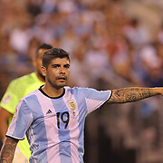 EAST RUTHERFORD, NEW JERSEY - JUNE 26: Ever Banega #19 of Argentina during the Argentina Vs Chile Final match of the Copa America Centenario USA 2016 Tournament at MetLife Stadium on June 26, 2016 in East Rutherford, New Jersey. (Photo by Tim Clayton/Corbis via Getty Images)