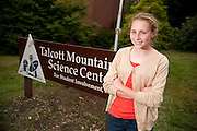 Mallory Kievman, 13, at the Talcott Mountain Science Center in Avon, CT. on October 12, 2011. Kievman came up with the idea of a lollipop that stops the hiccups in the summer of 2010 when she suffered from frequent hiccups. Editorial Photography for magazines, brochures  and annual reports using a candid approach.