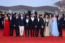 Stacy Martin, Natalie Portman, Raffey Cassidy, Brady Corbet and producers attending the Vox Lux Premiere as part of the 75th Venice International Film Festival (Mostra) in Venice, Italy on September 04, 2018. Photo by Aurore Marechal/ABACAPRESS.COM