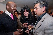 CHRIS EUBANK; HERMIEN JERRY DUFOUR,  Joy, private view work by Bulgarian artist Mihail Kamberov.<br /> The Air Gallery, 32 Dover Street, London W1, 12 May 2009
