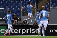 Esultanza Gol Wesley Hoedt (c) Lazio Goal celebration <br /> Roma 01-10-2015 Stadio Olimpico Football Calcio Europa League Lazio - Saint Etienne Foto Andrea Staccioli / Insidefoto
