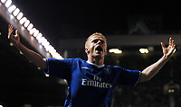 Damien Duff Chelsea celebrates scoring 2nd goal <br />