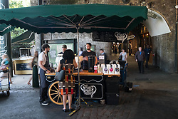 June 14, 2017 - London, London, UK - London, UK. Shop owners and stall holders prepare to open for business as Borough Market re-open on the first day of trading after the terrorist attacks 3rd June which left eight people dead and three terrorists shot dead by police. (Credit Image: © Ray Tang/London News Pictures via ZUMA Wire)