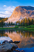 Evening light on Lembert Dome and the Tuolumne River, Yosemite National Park, California