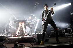 © Licensed to London News Pictures . 07/06/2014 . Heaton Park , Manchester , UK . CHROMEO perform on the Now Wave stage at the Parklife music festival in Heaton Park Manchester . Photo credit : Joel Goodman/LNP