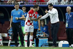 (L-R) Marcelo Brozovic of Croatia, Croatia coach Zlatko Dalic during the 2018 FIFA World Cup Russia Final match between France and Croatia at the Luzhniki Stadium on July 15, 2018 in Moscow, Russia
