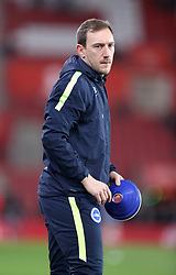 """Brighton and Hove Albion strength and conditioning coach Tom Barnden before the Premier League match at St Mary's, Southampton. PRESS ASSOCIATION Photo. Picture date: Wednesday January 31, 2018. See PA story SOCCER Southampton. Photo credit should read: Andrew Matthews/PA Wire. RESTRICTIONS: EDITORIAL USE ONLY No use with unauthorised audio, video, data, fixture lists, club/league logos or """"live"""" services. Online in-match use limited to 75 images, no video emulation. No use in betting, games or single club/league/player publications."""