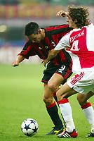 Milano 16/9/2003 <br />Champions League <br />Milan Ajax 1-0 <br />Filippo Inzaghi (Milan)  contrastato da Julien Escude (Ajax)<br />Filippo Inzaghi (Milan) challenged by Julien Escude (Ajax)<br />Foto Andrea Staccioli Graffiti
