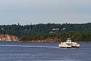 "BC Ferry ""Quinsam"" entering Nanaimo Harbour from Gabriola Island -  in Nanaimo, British Columbia, Canada"