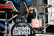 Metro Station performs at The Bamboozle Music Festival in East Rutherford, NJ. May 2, 2009