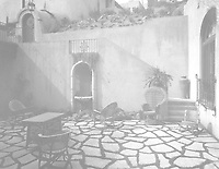 1925 Patio at 1847 Camino Palmero. Stairway to the swimming pool