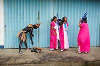 Philippines, ile de Panay, ville de Kalibo, festival de Ati Atihan. // Philippines, Panay island, Kalibo city, Ati Atihan festival.