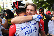 Arrival, Arnaud Demare (FRA - Groupama - FDJ) winner during the 105th Tour de France 2018, Stage 18, Trie sur Baise - Pau (172 km) on July 26th, 2018 - Photo Kei Tsuji / BettiniPhoto / ProSportsImages / DPPI