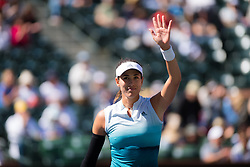 March 8, 2019 - Indian Wells, USA - Garbine Muguruza of Spain in action during her second-round match at the 2019 BNP Paribas Open WTA Premier Mandatory tennis tournament (Credit Image: © AFP7 via ZUMA Wire)