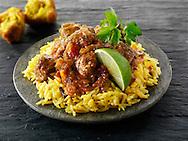 Lamb Bhuna curry,  Indian food stock pictures, photos fotos & images