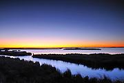 Dawn on wetland<br /> Oak Hammock Marsh<br /> Manitoba<br /> Canada