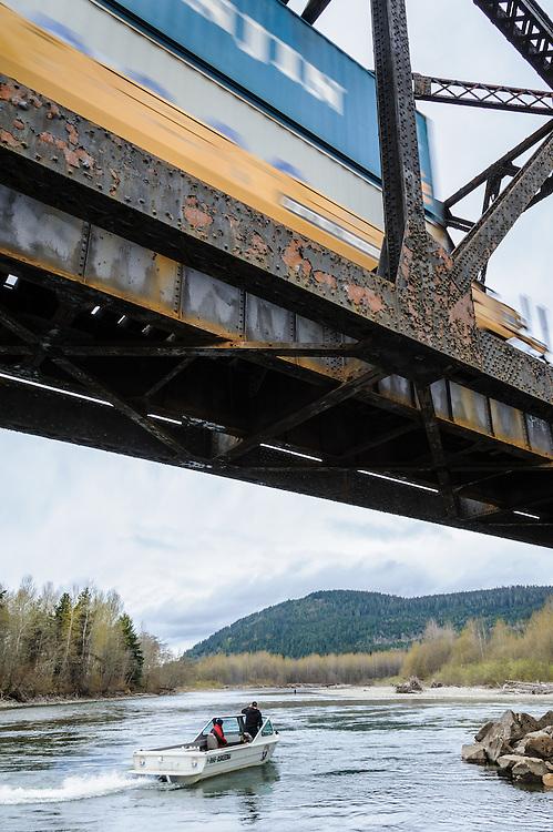 Kalum River boat launch. Terrace, BC