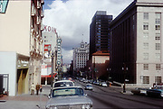 CS02010. SW Broadway looking N from Jefferson. March 4, 1973