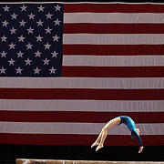 Madison Desch, Lenexa, Kansas, in action on the Balance Beam during the Senior Women Competition at The 2013 P&G Gymnastics Championships, USA Gymnastics' National Championships at the XL, Centre, Hartford, Connecticut, USA. 15th August 2013. Photo Tim Clayton
