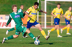 Andrej Dugolin of Olimpija vs Nebojsa Kovacevic of Koper at football match of 16th Round of First Slovenian League between NK Olimpija and Luka Koper, on October 31, 2009, in ZAK, Ljubljana, Slovenia.  Koper won 1:0. (Photo by Vid Ponikvar / Sportida)