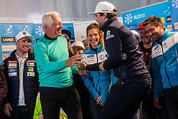 Zvone Vogrinec and Bostjan Kline at media day of Ski Association of Slovenia before new winter season 2018/19, on October 4, 2018 in Ski resort Pohorje, Maribor, Slovenia. Photo by Grega Valancic / Sportida