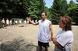 Uros Zorman in Marta Bon na otroski rokometni akademiji Urosa Zormana v Dolenjskih toplicah, 27. junija 2008, Dolenjske toplice, Slovenija. (Photo by Vid Ponikvar / Sportal Images)