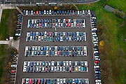 Nederland, Utrecht, Utrecht, 15-11-2010; Parkeerplaats op de Uithof, Universiteit Utrecht. Parking at the Uithof, Utrecht University.luchtfoto (toeslag), aerial photo (additional fee required).foto/photo Siebe Swart