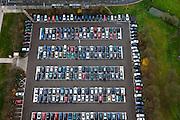 Nederland, Utrecht, Utrecht, 15-11-2010; Parkeerplaats op de Uithof, Universiteit Utrecht. Parking at the Uithof, Utrecht University.luchtfoto (toeslag), aerial photo (additional fee required).foto/photo Siebe Swart