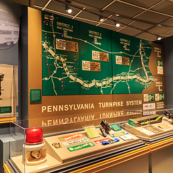 The history of the Pennsylvania Turnpike system is on display at the State Museum in Harrisburg, PA.