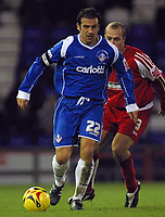 Photo: Paul Thomas.<br /> Oldham Athletic v Swindon Town. Coca Cola League 1.<br /> 10/12/2005.<br /> <br /> Andy Liddell, Oldham's equalising goal scorer.