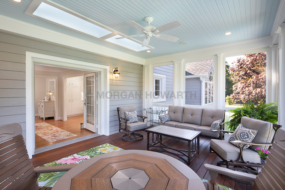 13913 Esworthy Exterior and interior of Addition screened in porch with patio
