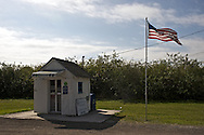 This post office building was originally an irrigation pipe shed for a tomato farm and later a tool shed.  It was pressed into service after a fire destroyed the Ochopee general store (which also housed the post office) in 1953.  At that time the structure also served as the Trailways Bus Stop.