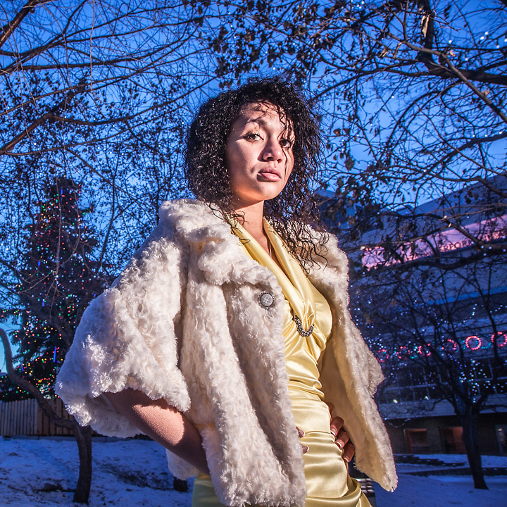 Rachael, a senior at Idea Home School, took a few minutes during a separate photographic session to pose for me at Town Square, downtown, Anchorage