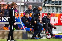 1. divisjon fotball 2018: Aalesund - Mjøndalen. Aalesunds trener Lars Bohinen i førstedivisjonskampen i fotball mellom Aalesund og Mjøndalen på Color Line Stadion.